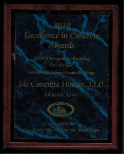 Ide Concrete Homes 2010 Excellence Award